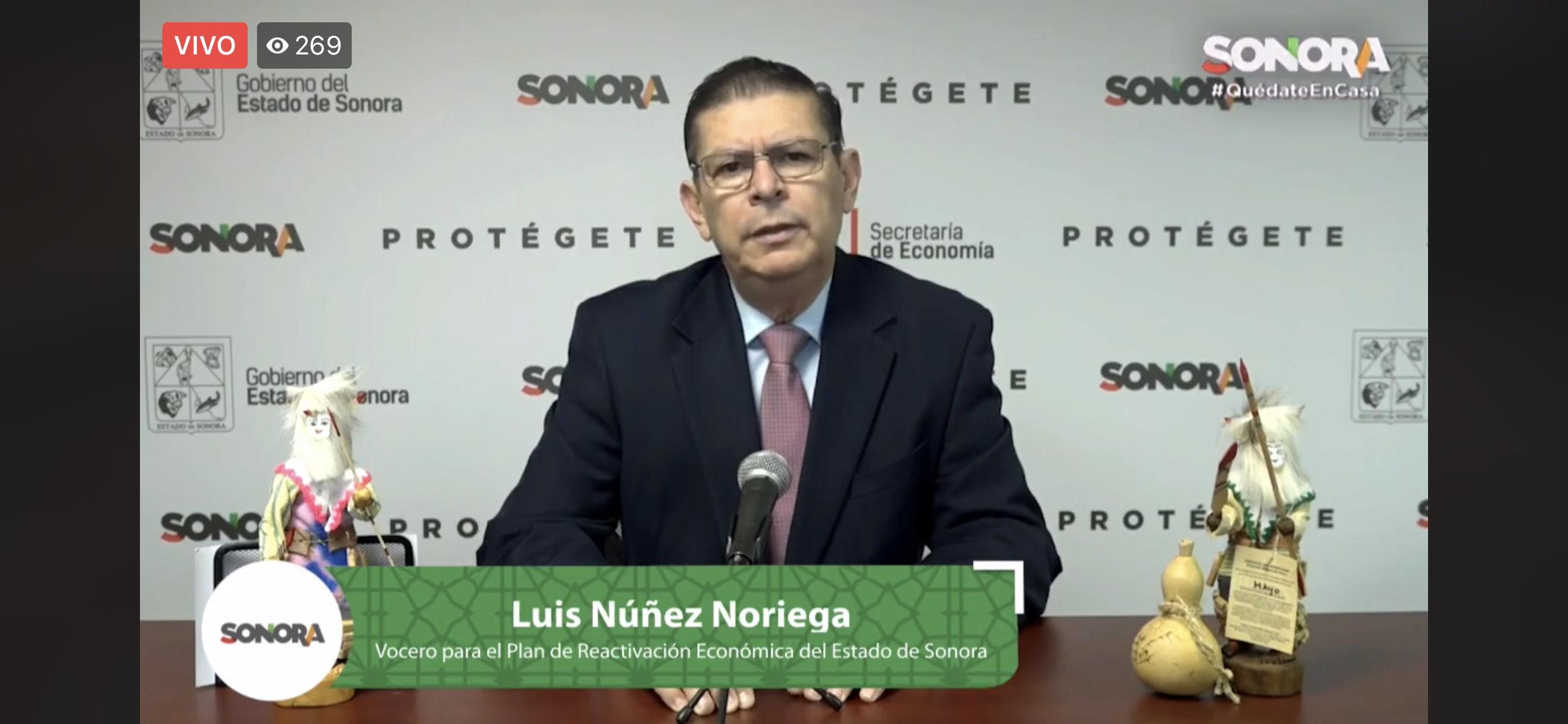Inversión, seguridad sanitaria y recuperación de empleos, clave para la reactivación económica en Sonora: Luis Núñez Noriega