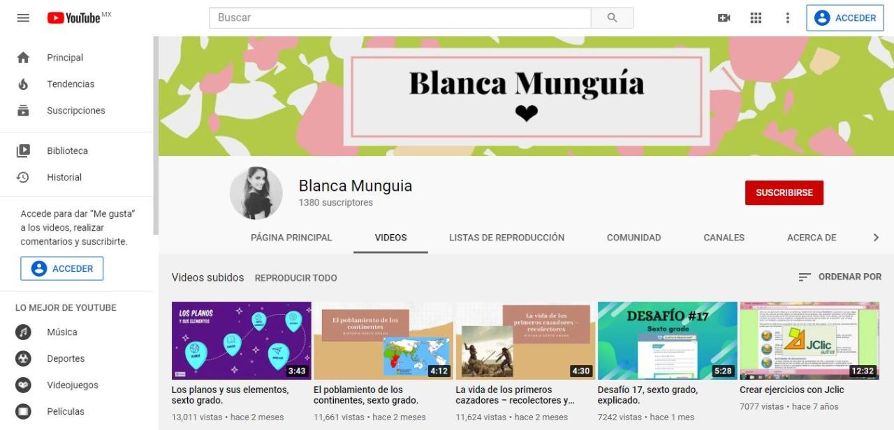 Maestra sonorense crea exitoso canal de videos sobre Matemáticas