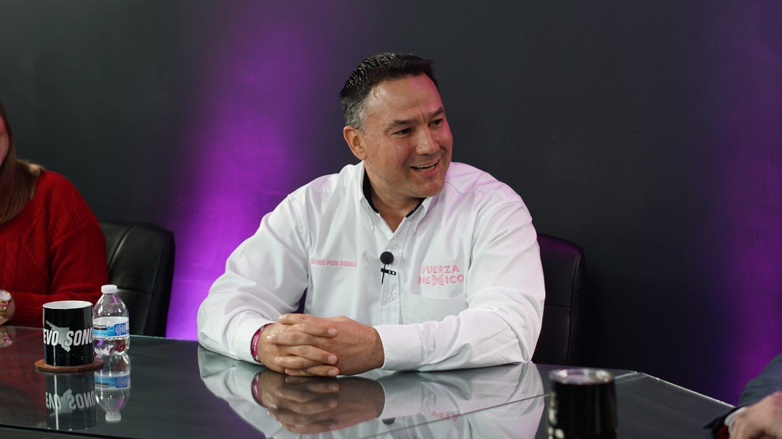 En Fuerza por México somos un proyecto nuevo e incluyente, pintaremos de rosa Navojoa:  Gerardo Pozos.
