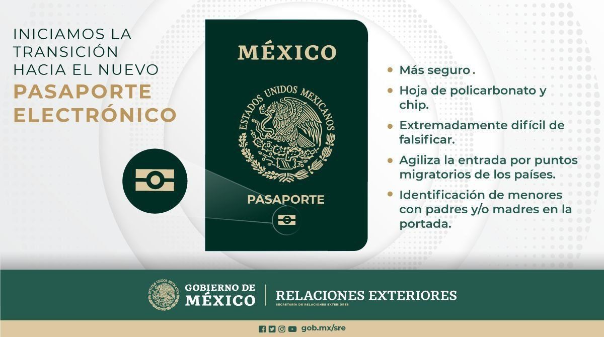 Mexicanos tendrán nuevo pasaporte con chip anti falsificación